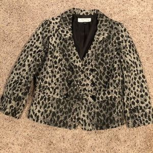 Tahari animal print blazer